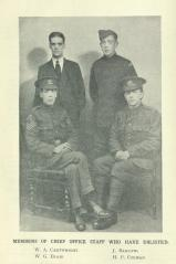 [1915] Members of Chief Office Staff who have enlisted