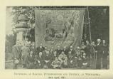 [1920] Unfurling of banner, Peterborough and District, at Whittlesea, 1921