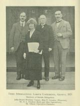[1921] Third International Labour Conference, Geneva, members of British Delegation