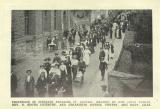[1913] Procession of strikers entering St Austell, headed by Julia Varley, Rev. H. Booth Coventry and Organisers Harris, Vincent and Matt Giles