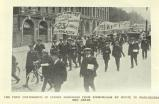[1913] The first contingents of strike marchers from Birmingham en route to Manchester and Leeds
