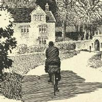 Part of drawing of Cerne Abbas by Frank Patterson
