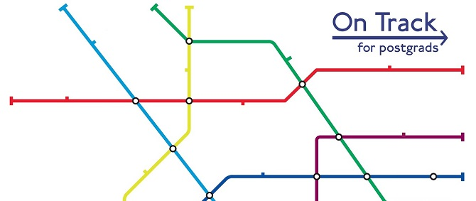 On Track poster with London Underground style lines