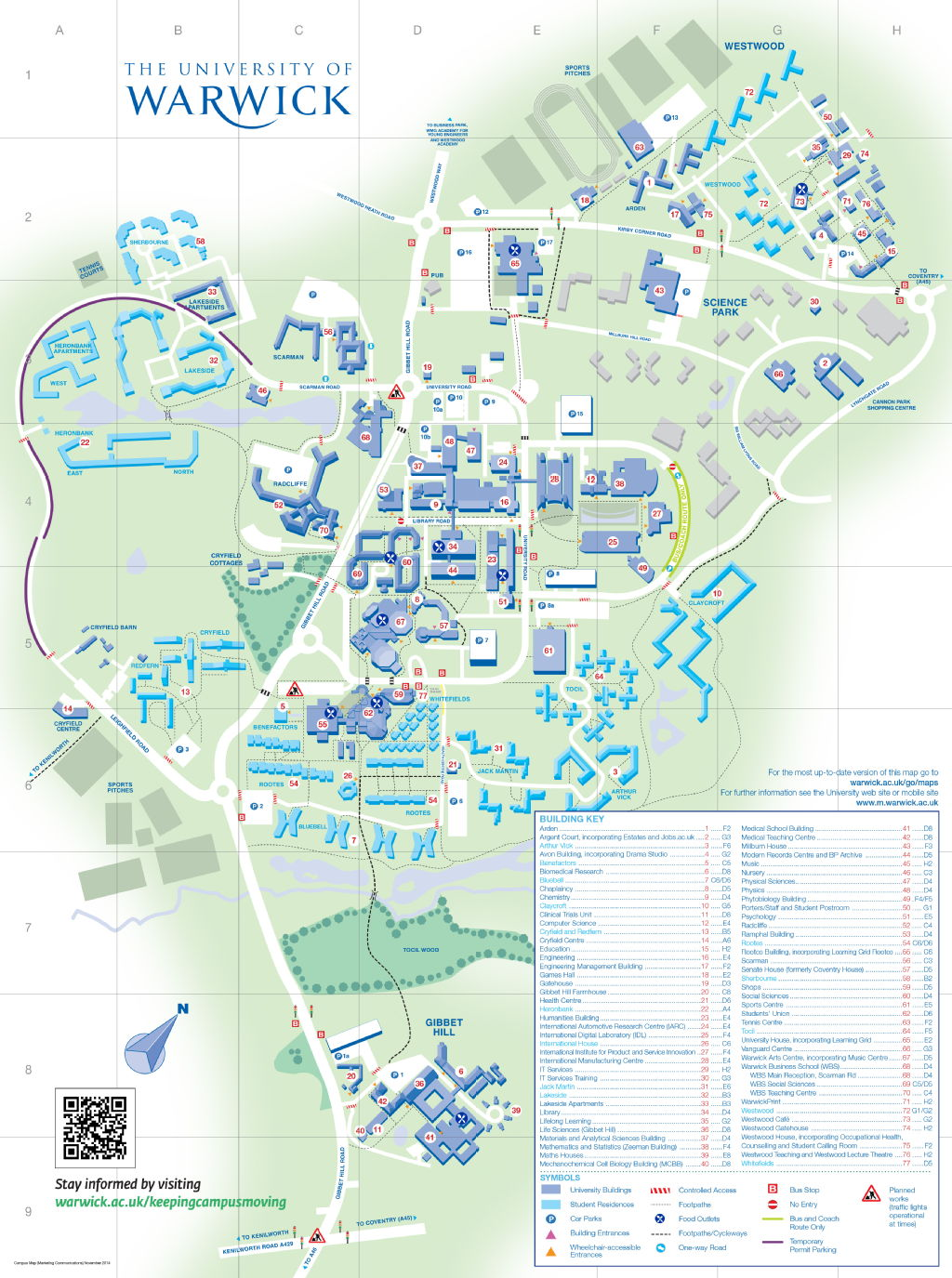 Interactive Map Warwick University of Warwick | How to find the Music Centre Interactive Map Warwick
