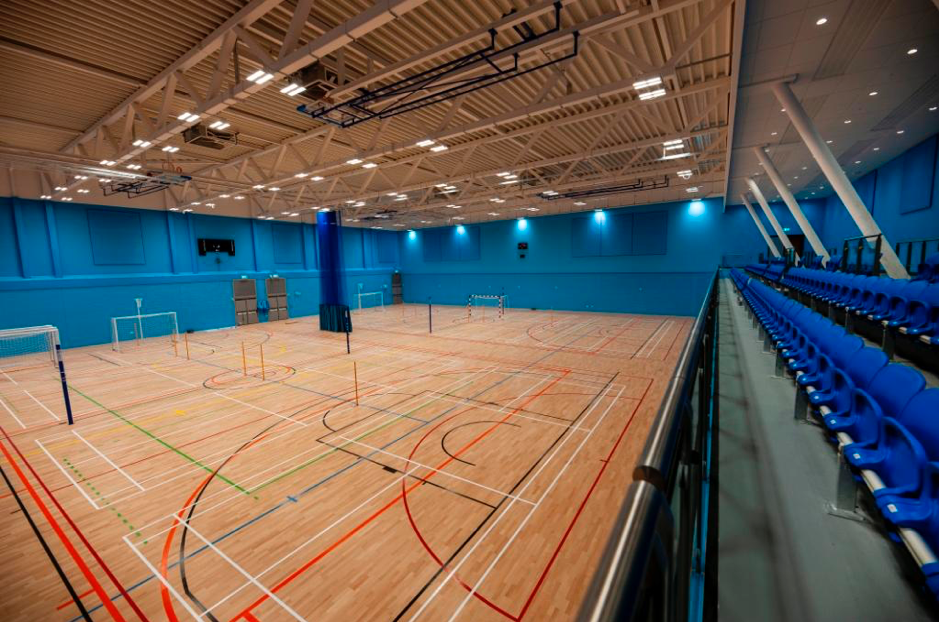 Sports Hall at Coventry's sports and wellness hub