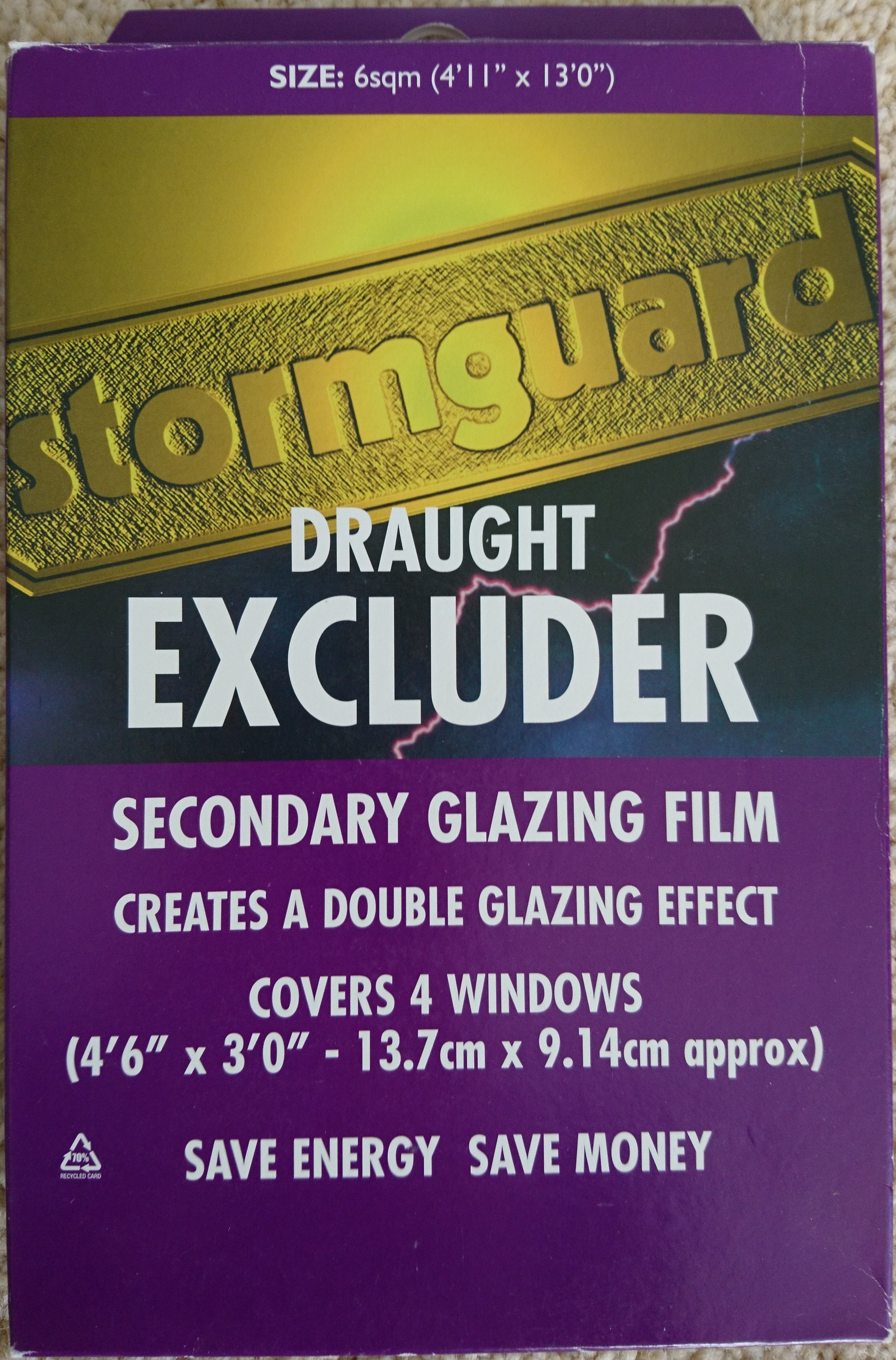 the latest 0cd7a 233fc Stormguard draught excluder secondary glazing film - added ...