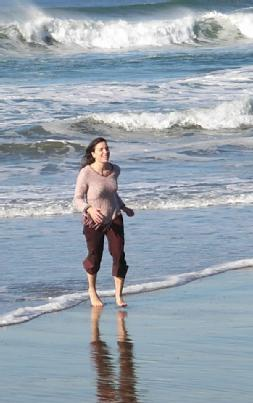 Walking in the Pacific Ocean
