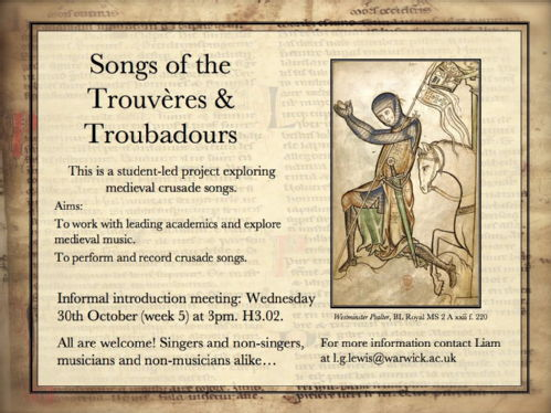 medieval song crusades poster