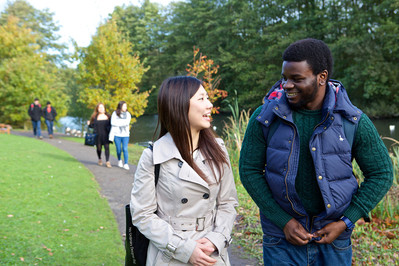 Immigration image - students walking and talking