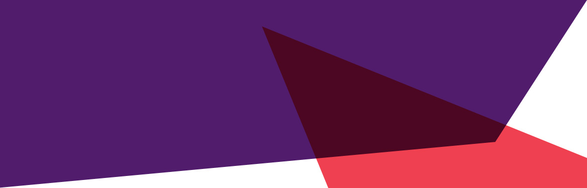Postgraduate study homepage banner - abstract vector triangles in red and purple