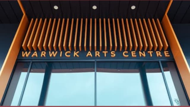 The entrance to Warwick Arts Centre, an events venue right here on campus.