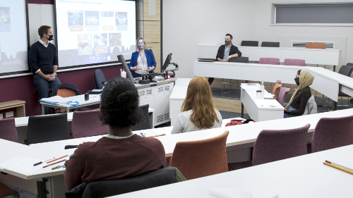 Students in an engagement seminar